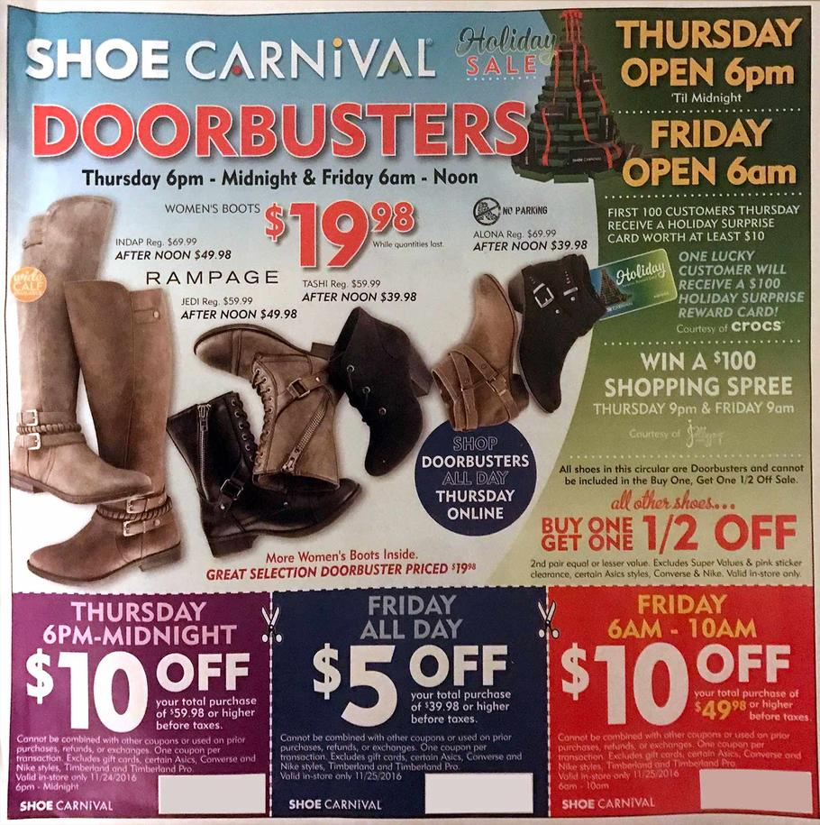 Shoe Carnival Black Friday page 1